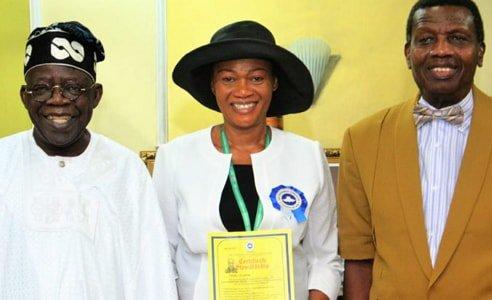 Pastor Adeboye ordains Senator Remi Tinubu as assistant Pastor!