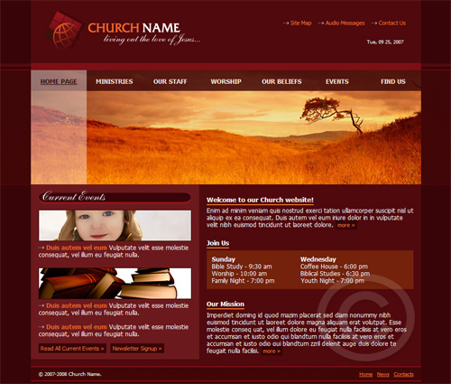 Build Your Church Website